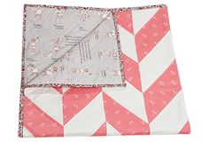 Nautical Crib Quilt, Pink on OneKingsLane.com #sarahjanestudios