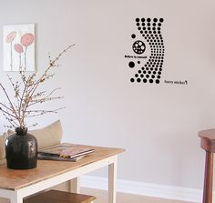 wallsticker wave dot Wallpaper interior Design