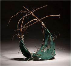 by Jo-Ann Reeuwyk grapevine, flax, pigment