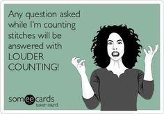 any question asked while I'm counting...
