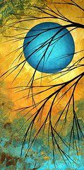 Whimsical Art - Abstract Landscape Art PASSING BEAUTY 1 of 5  by Megan Duncanson