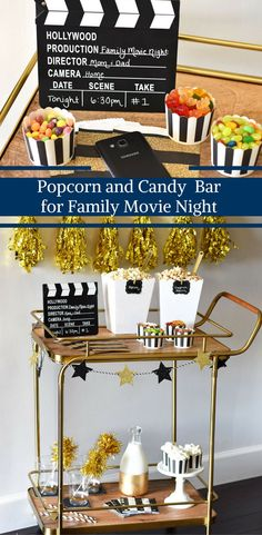 Popcorn and Candy Bar for Family Movie Night by Happy Family blog in partnership with Walmart Family Mobile.  #ad #YourTaxCash @walmart
