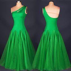 New Ballroom Competition Dance Dress Modern Waltz Tango Standard Dress 2Color