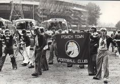 Ipswich Town in Rotterdam before the match against Feyenoord (1975)