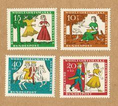 Grimm's Fairy Tales Cinderella stamps of West Germany in 1965 (Cinderella)