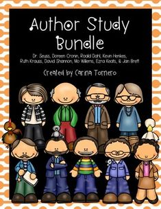 Author Study Bundle:  Mo Willems, David Shannon, Kevin Henkes, Dr. Seuss, Ruth Krauss, Jan Brett, Doreen Cronin, Roald Dahl, and Ezra Jack Keats from #TheTeachingTornado #teacherspayteacher #tpt