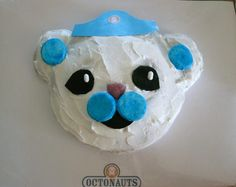 Octonauts- easy use a round cake and cupcake in half for the ears. possibility