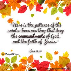 Here is the patience...(Rev. 14:12)