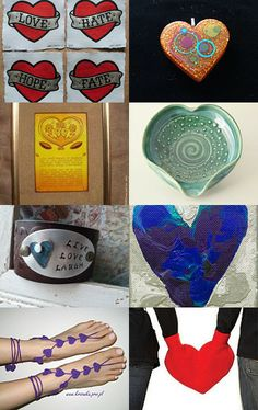 Hearts of Many Colors by Mindy on Etsy--Pinned with TreasuryPin.com
