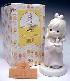 ENESCO Precious Moments Sharing The Light Of Love 272531 1997 boxed