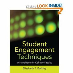 My current read... so far, so good, even gives 'online' adaptions to techniques. Student Engagement Techniques: A Handbook for College Faculty (Higher and Adult Education Series)