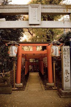 Entrance to Gojoten Shrine, Ueno Park, Tokyo