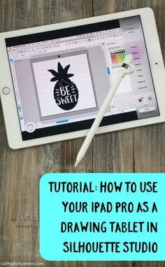Tutorial: How to Use iPad Pro as a Drawing Tablet in Silhouette Studio - Great for Silhouette Cameo, Curio, Mint Owners who like to draw! By cuttingforbusiness.com.