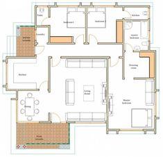 House Layout Design, Main Door Design, House Layouts, Sims House Plans, Dream House Plans, Bungalow Floor Plans, Log Home Living, House Construction Plan, Architectural House Plans