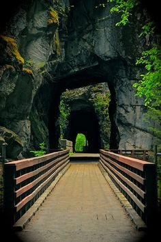 Old railroad tunnels in Hope, British Columbia.