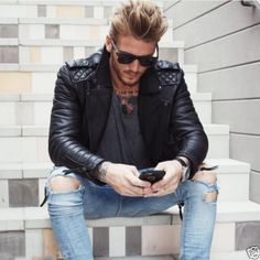 We design leather jackets of one of the highest quality for women and men. Inner Lining: Satin Lining Inside. Material: 100 % Genuine Leather. Lined With Internal Pockets. LEO FASHION KING- ONE STOP SOLUTION FOR LEATHER JACKETS !   eBay!