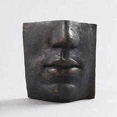 Hertha Hillfon bronsansikte Stockholm, Face Art, Wood Carving, Sculpting, Modern Art, Pottery, Interior Design, Portrait, Creative