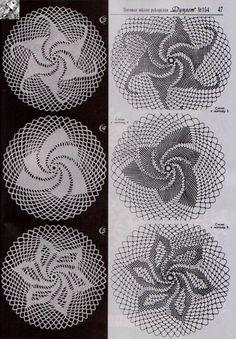 Beautiful crochet motifs with charts Crochet Circles, Crochet Motif, Crochet Doilies, Crochet Hooks, Crochet Patterns, Crochet Diagram, Small Mats, Crochet Tablecloth, Beautiful Crochet