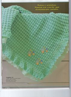 crochet afghan for baby, crochet pattern photo: liveinternet. Baby Afghans, Crochet Afghans, Crochet Quilt, Crochet Blanket Patterns, Baby Blanket Crochet, Crochet Stitches, Crochet Baby, Free Crochet, Baby Quilts