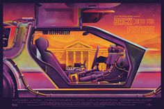 Back to the Future Poster and Variant — DKNG Screen Print Poster, New Poster, Poster Prints, The Big Lebowski, Cool Posters, Movie Posters, Back To The Future, Lake City, Motion Design