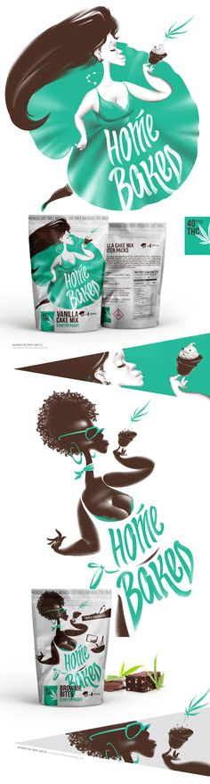 HOME BAKED package design on Behance