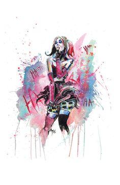 Harley Quinn - Watercolor Print
