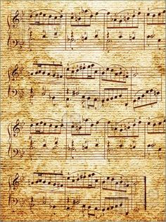 Music-paper with notes background.