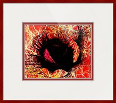 Abstract Flower Print L26 Picture Wall Art Red Orange Pink Black Yellow Vibrant Bold by Concepts2Canvas on Etsy