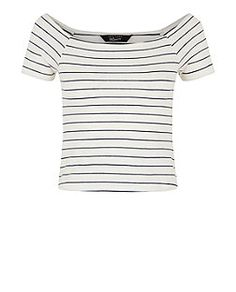 036733242c579 this is a cute top with a different cut neck its called Teens White Jersey  Stripe