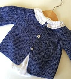 Malha a Malha   Handmade Life: esquema casaco bebé #1   baby vest pattern #1                                                                                                                                                                                 Más