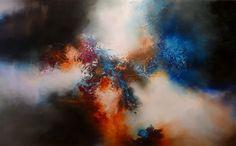 """Gran lienzo abstracto por Simon Kenny """"Unión"""" a la venta"""