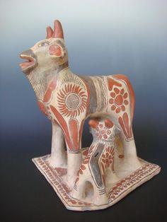 XL old vintage Mexican pottery Guerrero Ameyaltepec sculpture  12  x 13 3/4  | eBay