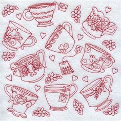 Redwork Embroidery Designs at Embroidery Library