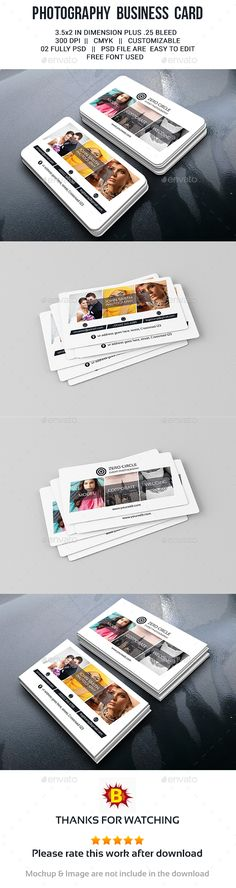 Photography Business Card Template PSD #design Download: http://graphicriver.net/item/photography-business-card/13509882?ref=ksioks