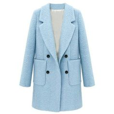 Double Breasted Patch Pocket Boucle Coat