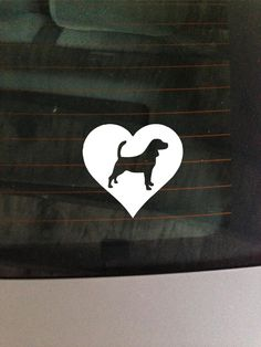 Beagle Heart  Vinyl Decal Car Window Wall by GreenMountainVinyl, $4.00
