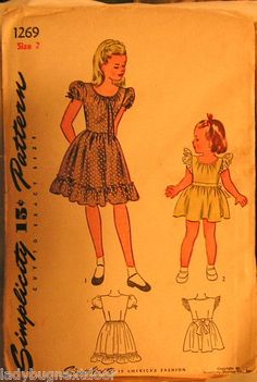 1940's Mother/Daughter Fashion ... this is the Daughter dress (Mother is Simplicity 1270)