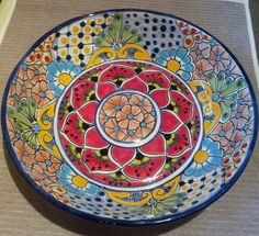 Inspiration for our guests at Bistro Claytopia Ceramic Plates, Ceramic Art, Decorative Plates, Spanish Art, Spanish Style, Pottery Bowls, Ceramic Pottery, Pottery Ideas, Cultural Crafts