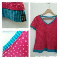 Pattydoo Shirt Liv im 2-Lagen-Look -  Interlock Jersey pink gepunktet - Westfalenstoffe Junge Linie - 100% Baumwolle - Ökotex Standard 100