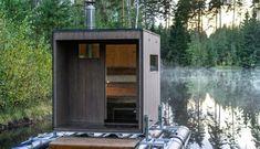 Diy Sauna, Saunas, Backyard Sheds, Backyard Pools, Pool Decks, Pool Landscaping, Mobile Sauna, Building A Sauna, Sauna Design