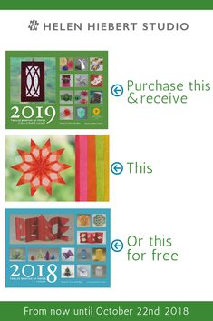 Great news! When you order a 2019 Twelve Months of Paper calendar from October 7 - you'll have the choice of either a 2018 Twelve Months of Paper calendar or Five Fun Window Stars projects for free with your order! October 7, Paper Decorations, Paper Goods, My Books, Calendar, Weaving, Objects, Window, Tutorials