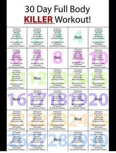 Killer workout to add to your normal routine.