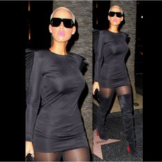 Amber Rose in Christian Louboutin Contente Thigh High Boots - Immac!