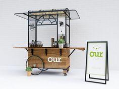 cart design for our coffee Food Stall Design, Food Cart Design, Food Truck Design, Mobile Coffee Cart, Mobile Food Cart, Coffee Carts, Coffee Truck, Bike Coffee, Vendor Cart