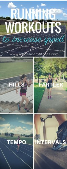 Fitness Training: Types of Running Workouts to Increase Speed Speed Workout, Running Workouts, Running Tips, Pace Running, Trail Running, Treadmill Workouts, Running Schedule, Summer Workouts, Running Drills