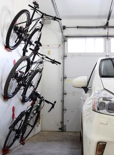 DaHANGER Dan bike hook, reclaim your floor space. The post Bike wall hanger. DaHANGER Dan bike hook, reclaim your floor space. Bike Hooks, Bicycle Rack, Diy Bike Rack, Garage Organization, Garage Storage, Storage Hooks, Shoe Storage, Storage Shelves, Organization Ideas