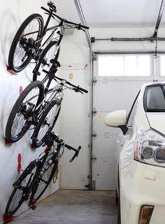 Bike wall hanger. DaHANGER Dan bike hook, reclaim your floor space.