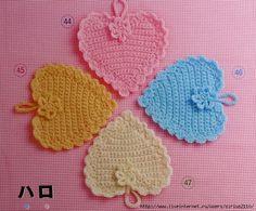 Crochet Knitting Handicraft: Heart