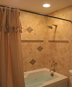 tile shower design with bathtub small bathroom