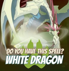 "SPELLS GALLERY - WHITE DRAGON Out of all the dragons, this one is the most rare, the most intelligent and the most powerful. Their ability to phase out and teleport make them nearly invincible."" Fathom, captain of the Snow Legion #game #rpg #fantasy #dragons #mages #magic #spells #warlock Play now! App Store / iOS: https://itunes.apple.com/app/war-of-warlocks/id799551713?mt=8 Google Play / Android: https://play.google.com/store/apps/details?id=air.com.greengeniegames.warlocks"